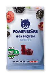 Power Beärs Protein Chews - Blackberry & Cherry